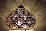 Oosterse lamp Isra XL Ghalia donker