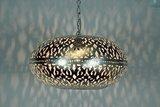 Oosterse lamp Burlesque XL aan licht