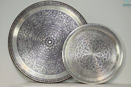 Oosters Dienblad Zilver mat