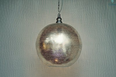 Oosterse lamp Souk L licht aan