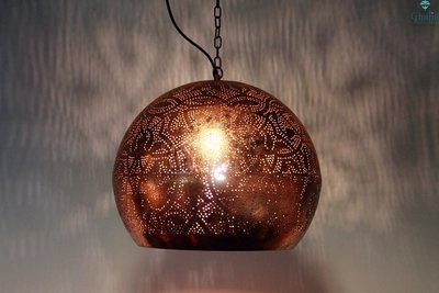 Oosterse lamp Laila Koper detail